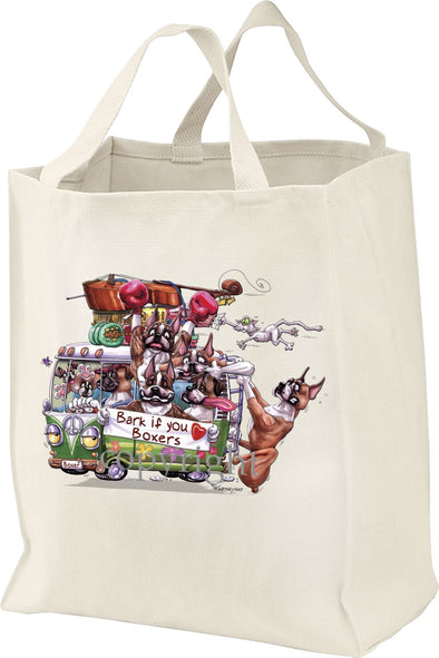 Boxer - Bark If You Love Dogs - Tote Bag