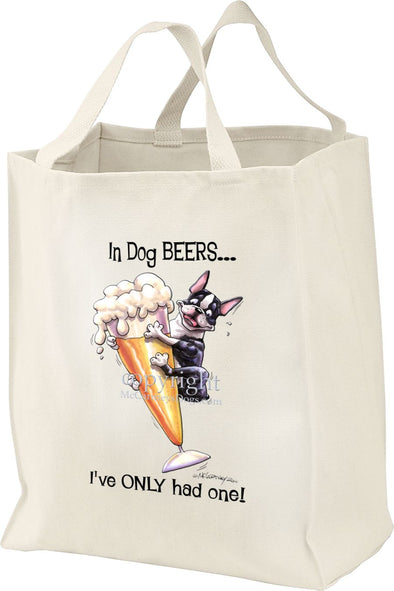 Boston Terrier - Dog Beers - Tote Bag
