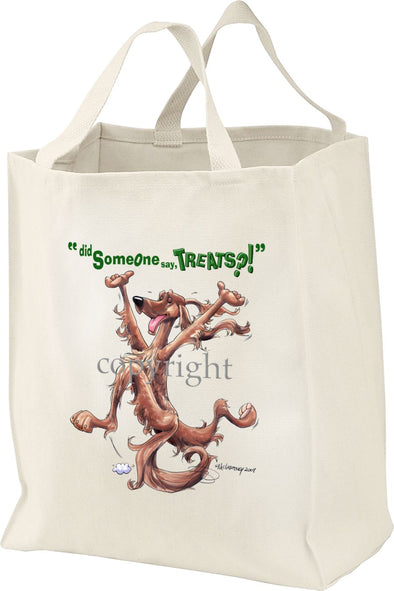 Irish Setter - Treats - Tote Bag