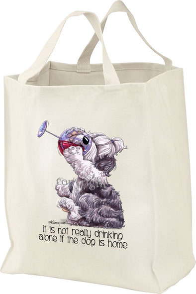 Old English Sheepdog - It's Not Drinking Alone - Tote Bag