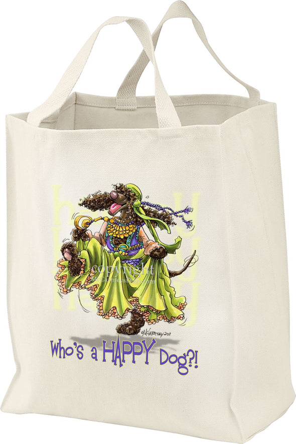 Irish Water Spaniel - Who's A Happy Dog - Tote Bag