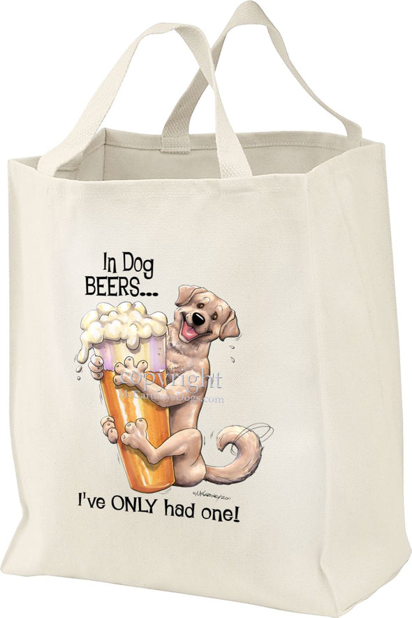 Labrador Retriever  Yellow - Dog Beers - Tote Bag