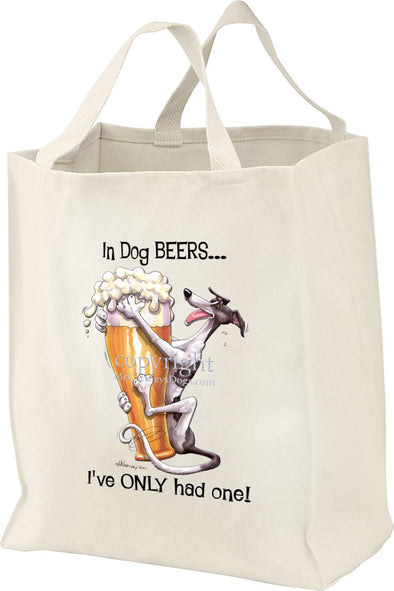 Greyhound - Dog Beers - Tote Bag