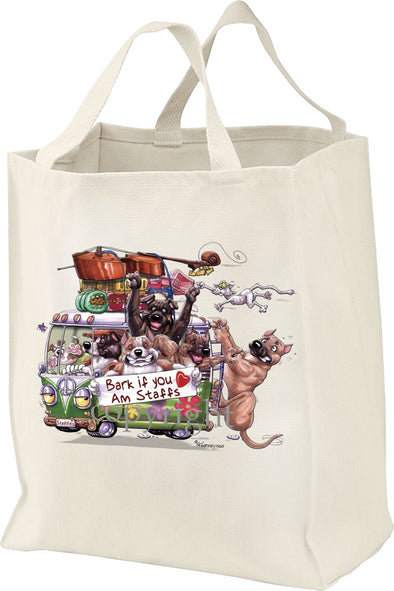 American Staffordshire Terrier - Bark If You Love Dogs - Tote Bag