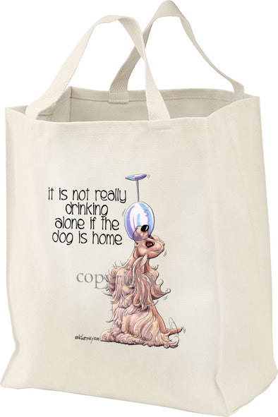 Cocker Spaniel - It's Not Drinking Alone - Tote Bag
