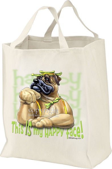 Bullmastiff - Who's A Happy Dog - Tote Bag