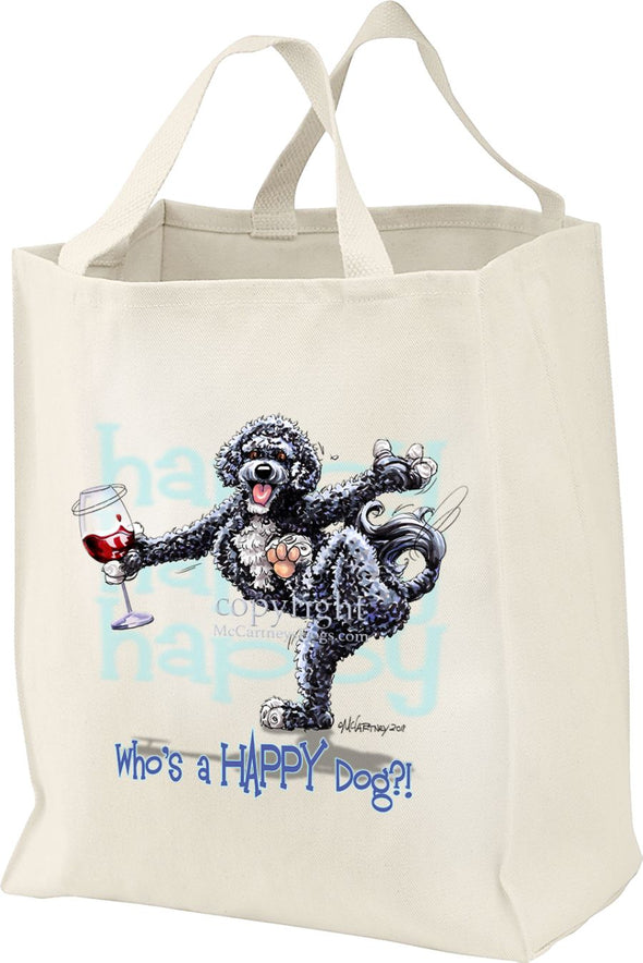Portuguese Water Dog - Who's A Happy Dog - Tote Bag