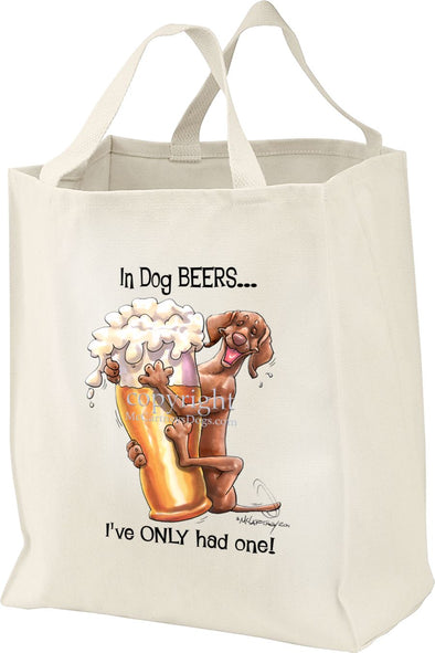 Vizsla - Dog Beers - Tote Bag