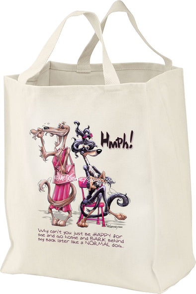 Saluki - Be Happy Hmph - Mike's Faves - Tote Bag