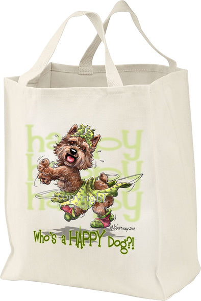 Norwich Terrier - Who's A Happy Dog - Tote Bag