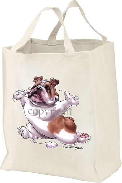 Bulldog - Happy Dog - Tote Bag