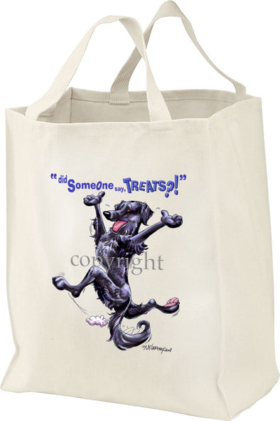Flat Coated Retriever - Treats - Tote Bag