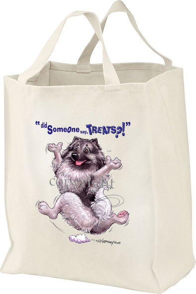 Keeshond - Treats - Tote Bag