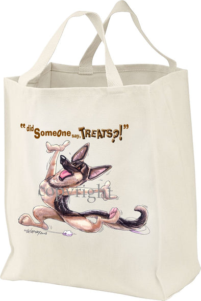 German Shepherd - Treats - Tote Bag