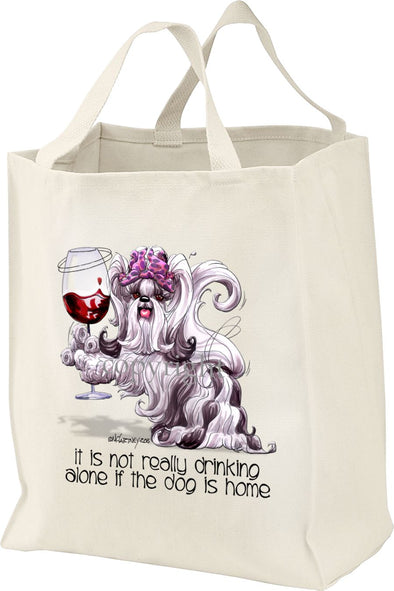 Shih Tzu - It's Not Drinking Alone - Tote Bag