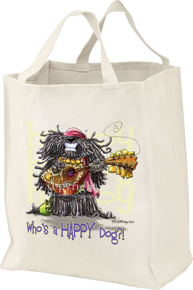 Puli - Who's A Happy Dog - Tote Bag