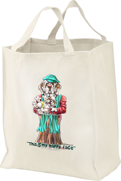 Clumber Spaniel - Happy Face - Mike's Faves - Tote Bag