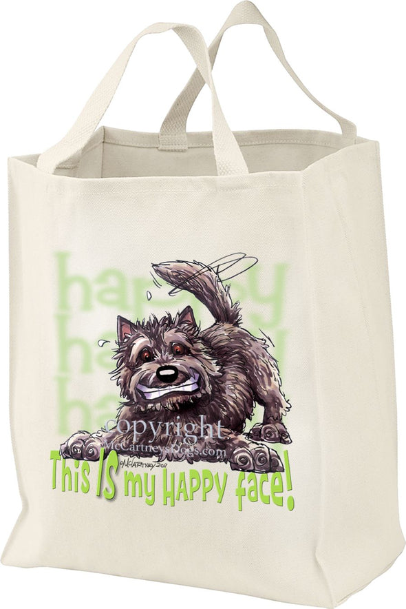 Cairn Terrier - 2 - Who's A Happy Dog - Tote Bag