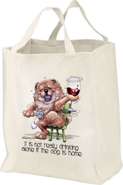 Chow Chow - It's Not Drinking Alone - Tote Bag