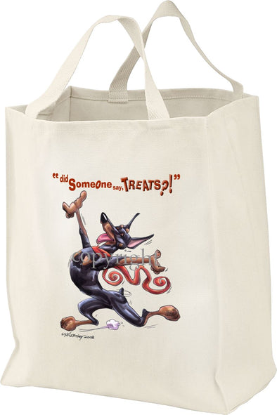 Doberman Pinscher - Treats - Tote Bag