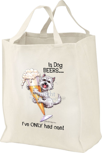 West Highland Terrier - Dog Beers - Tote Bag