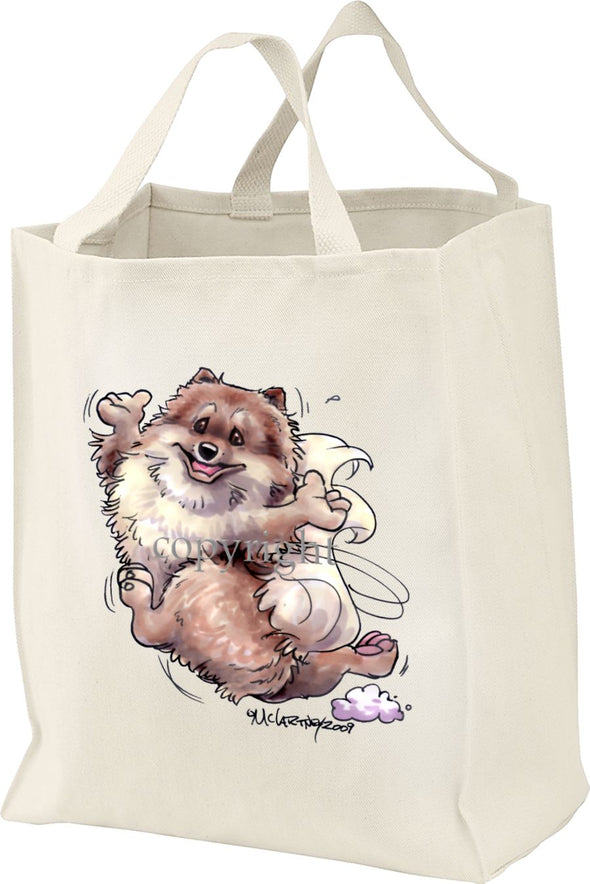 Pomeranian - Happy Dog - Tote Bag