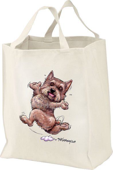 Norwich Terrier - Happy Dog - Tote Bag