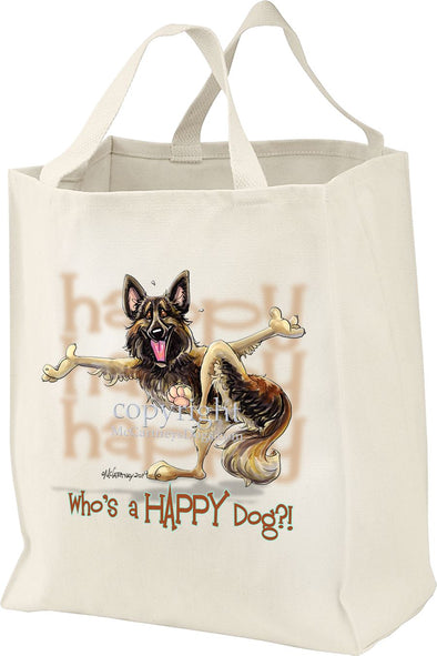 Belgian Tervuren - Who's A Happy Dog - Tote Bag