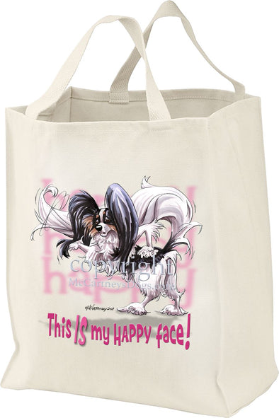 Papillon - 2 - Who's A Happy Dog - Tote Bag