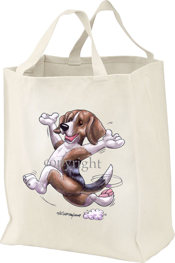 Beagle - Happy Dog - Tote Bag