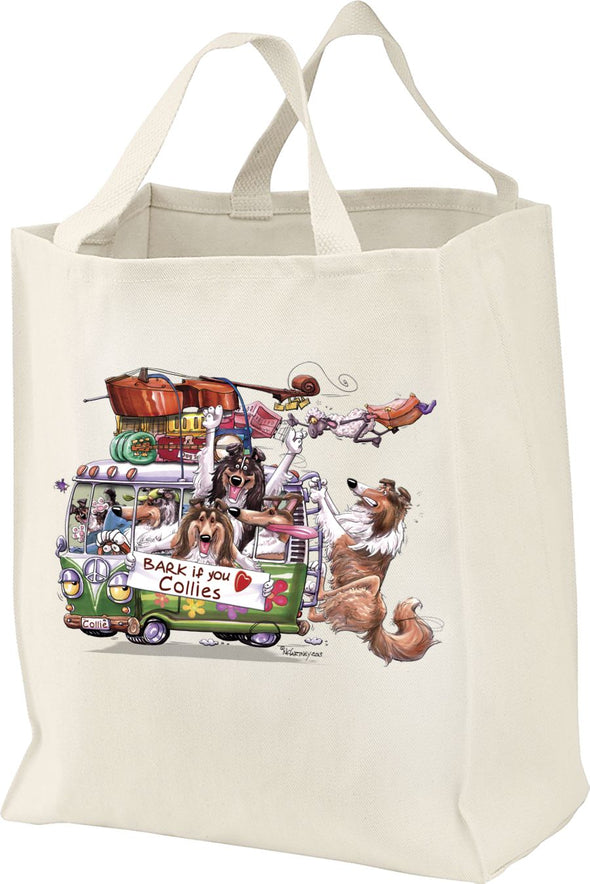 Collie - Bark If You Love Dogs - Tote Bag
