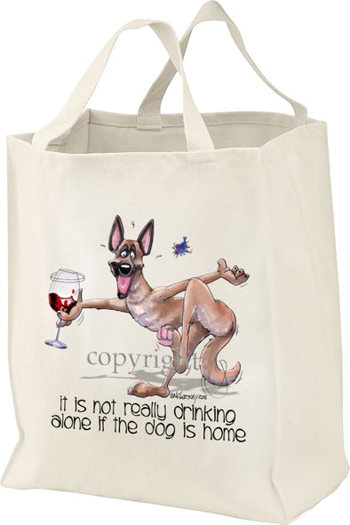 Belgian Malinois - It's Not Drinking Alone - Tote Bag
