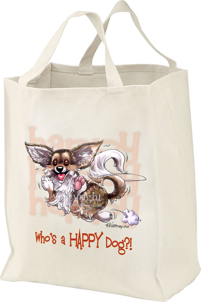 Chihuahua  Longhaired - Who's A Happy Dog - Tote Bag
