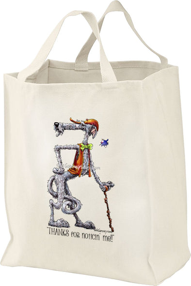 Scottish Deerhound - Noticing Me - Mike's Faves - Tote Bag