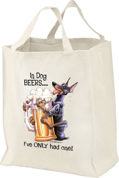 Doberman Pinscher - Dog Beers - Tote Bag