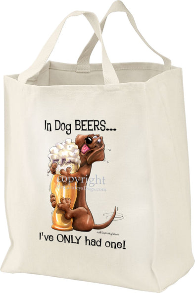 Dachshund - Dog Beers - Tote Bag
