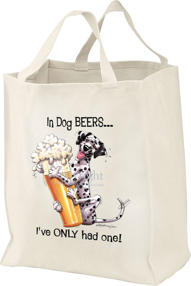 Dalmatian - Dog Beers - Tote Bag