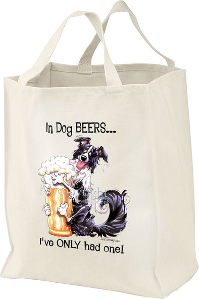 Border Collie - Dog Beers - Tote Bag