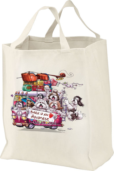 Havanese - Bark If You Love Dogs - Tote Bag