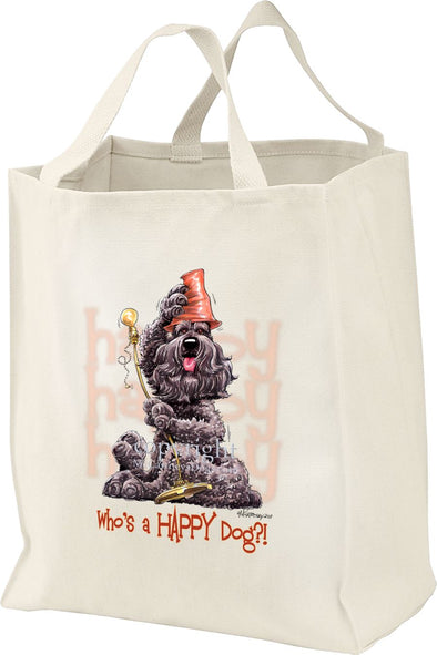 Bouvier Des Flandres - Who's A Happy Dog - Tote Bag