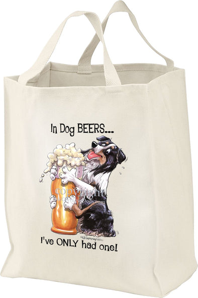 Australian Shepherd  Black Tri - Dog Beers - Tote Bag