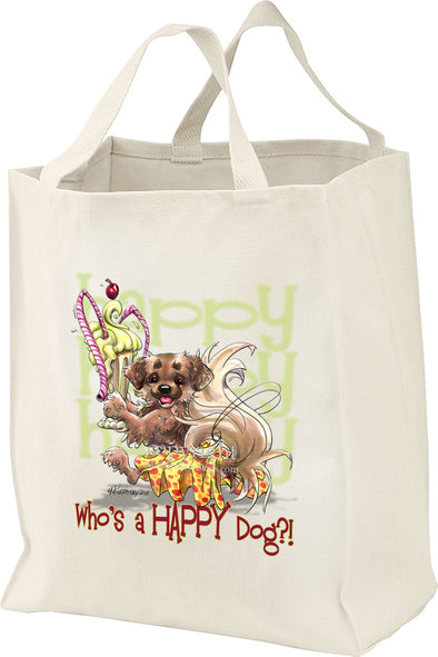 Tibetan Spaniel - Who's A Happy Dog - Tote Bag