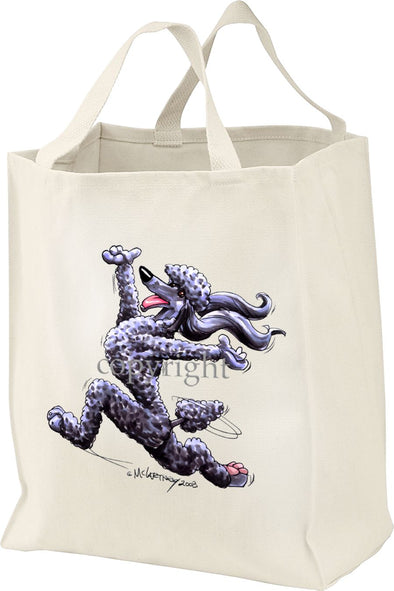 Poodle  Black - Happy Dog - Tote Bag
