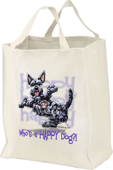 Scottish Terrier - Who's A Happy Dog - Tote Bag