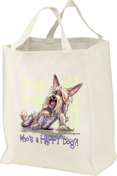 Silky Terrier - Who's A Happy Dog - Tote Bag