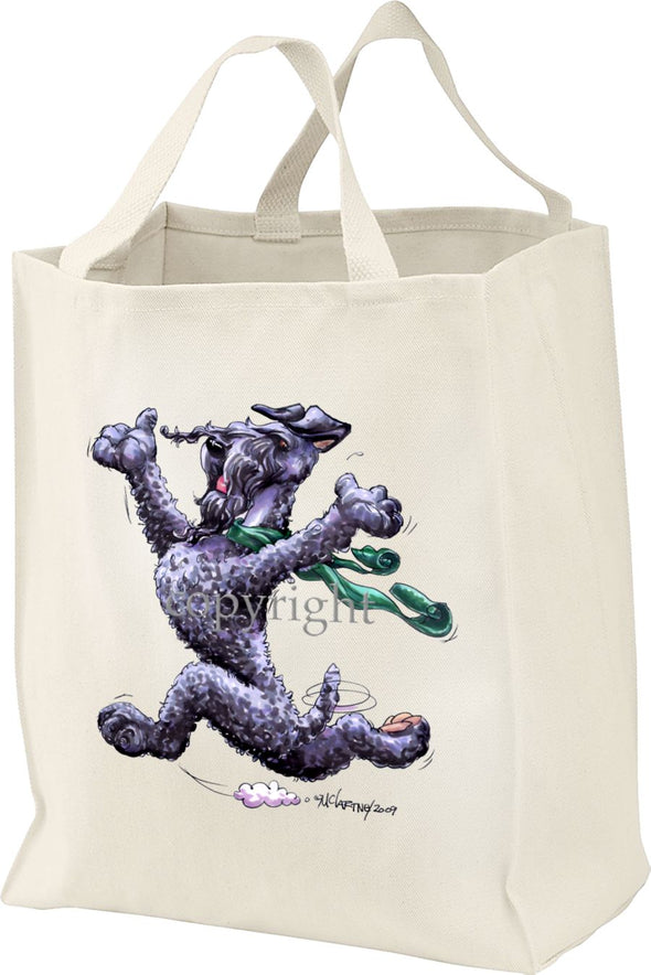 Kerry Blue Terrier - Happy Dog - Tote Bag