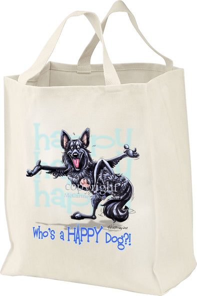 Belgian Sheepdog - Who's A Happy Dog - Tote Bag