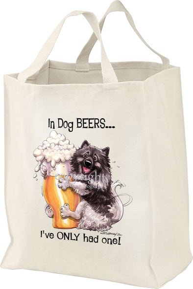 Keeshond - Dog Beers - Tote Bag