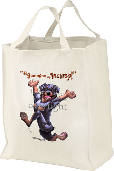 Rottweiler - Treats - Tote Bag