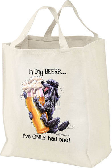 Poodle  Black - Dog Beers - Tote Bag